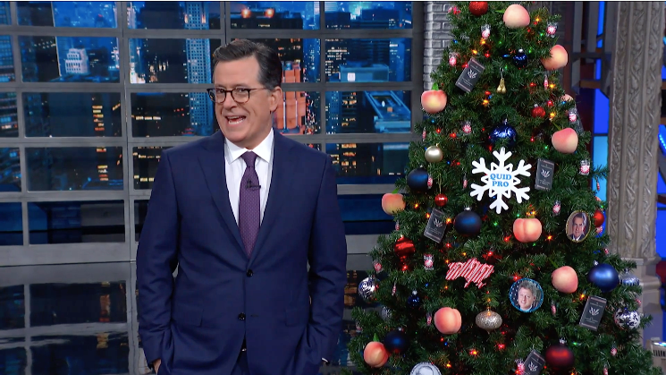 Stephen Colbert Was Feeling Merry on Impeachment Eve