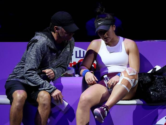 Bianca Andreescu withdraws from WTA Finals due to knee injury