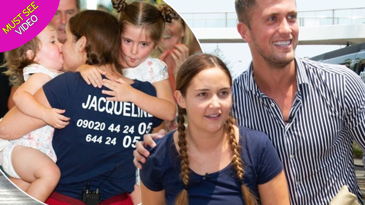 Jacqueline Jossa's emotional reunion with daughters after I'm A Celebrity glory