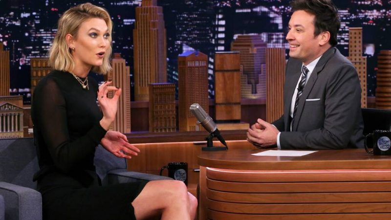 Watch Karlie Kloss Hilariously Critique Jimmy Fallon's Worst Looks Ever