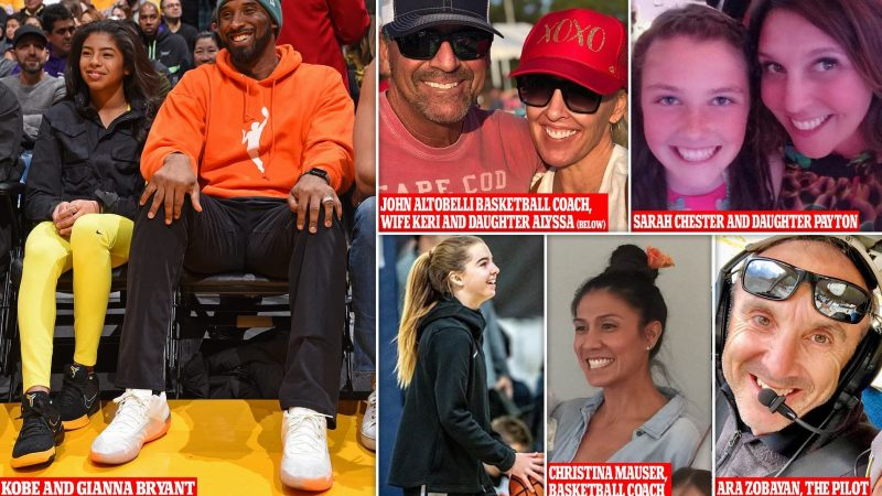 Pictured: All nine victims of helicopter crash that killed Kobe Bryant and his 13-year-old daughter Gianna as tributes are paid to two teenage girls, a basketball coach and the aircraft's pilot