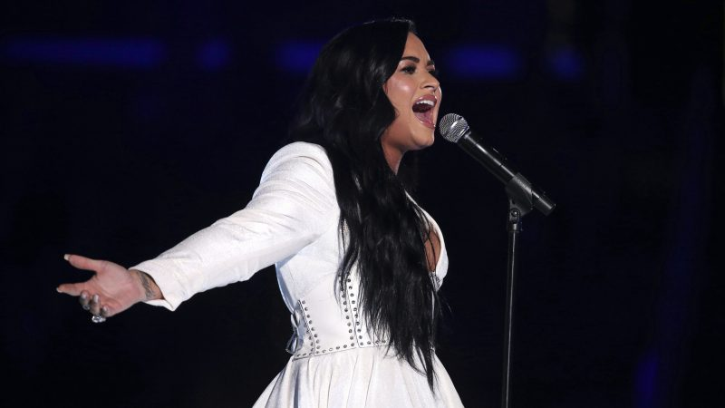 Demi Lovato delivers powerful performance during emotional Grammys return