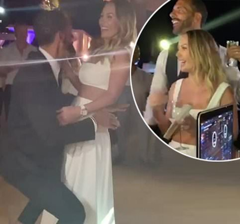 Inside Kate and Rio Ferdinand's wedding reception: Grinding to Ashanti, a crop top-clad bride, a seven-tier cake and a VERY steamy first dance… A peek at the TOWIE star and footballer's wild Turkish bash